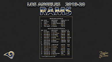 2019 2020 Los Angeles Rams Wallpaper Schedule