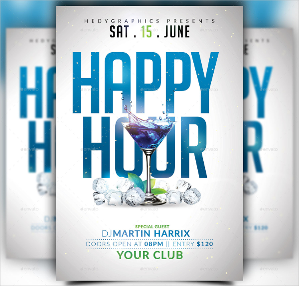 24 Happy Hour Flyer Templates Free PSD AI EPS Format Downloads
