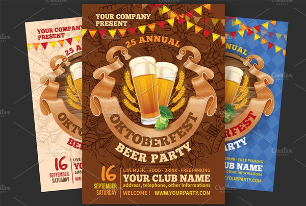 Simple Beer Party Flyer Template