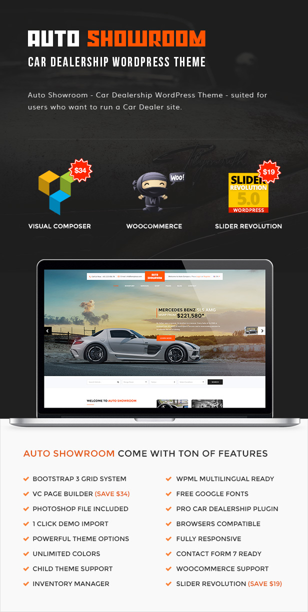 Auto Showroom - Car Dealership WordPress Theme (Directory & Listings ...