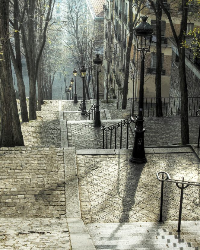 Montmartre Stairs by Robin Rebeck