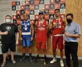 Kalil Paiva da Equipe Memorial Santos/FUPES de Boxe é ouro na Copa Liso Boxe