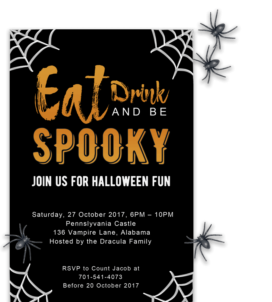 free printable halloween party