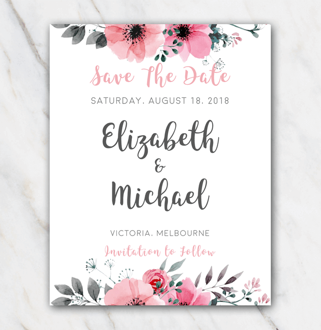 Save Date Cards Pinterest