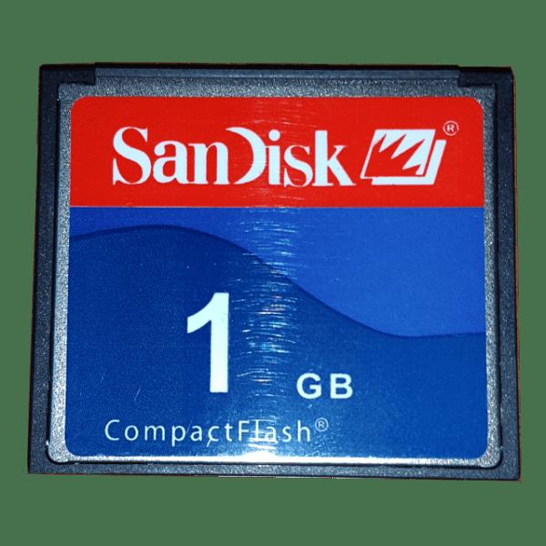 SANDISK 1 GB PCMCI COMPACT FLASH KART 1