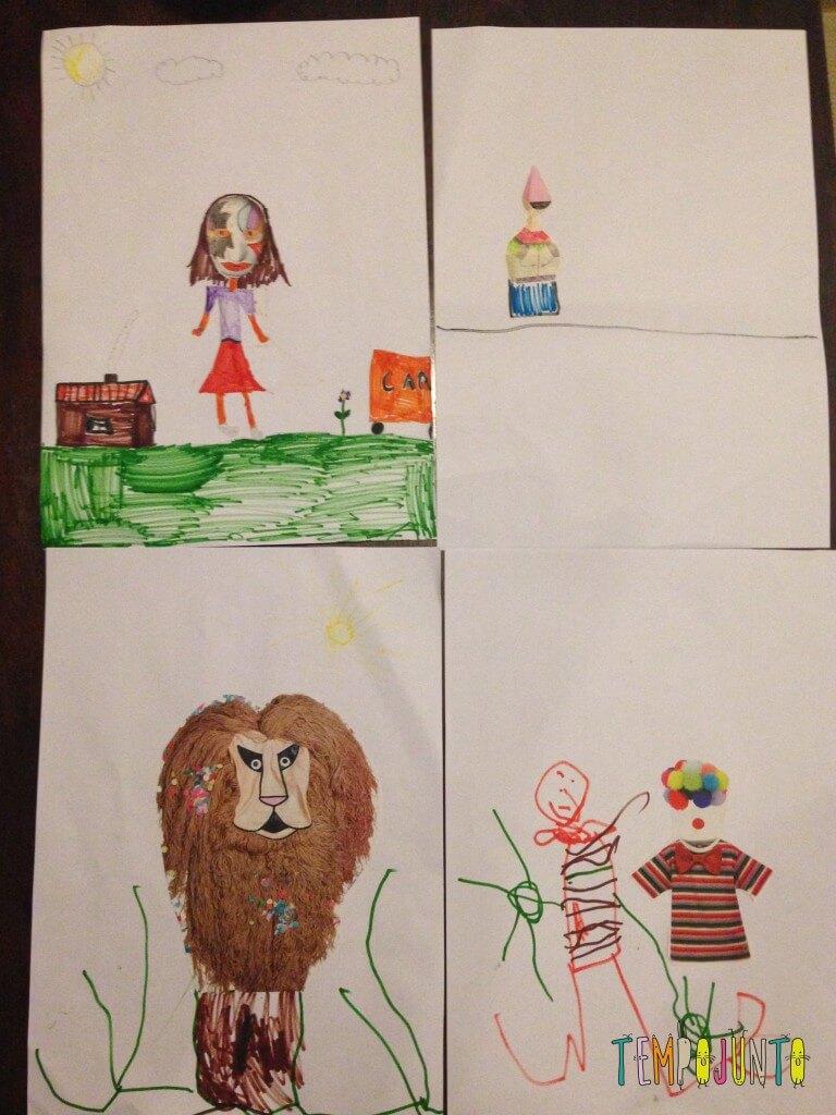 Complete o desenho - um convite à imaginação - desenhos prontos