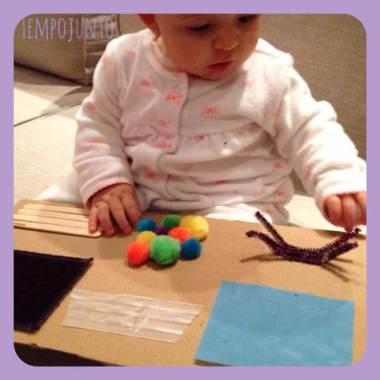 Faça um quadro sensorial para o seu bebê!