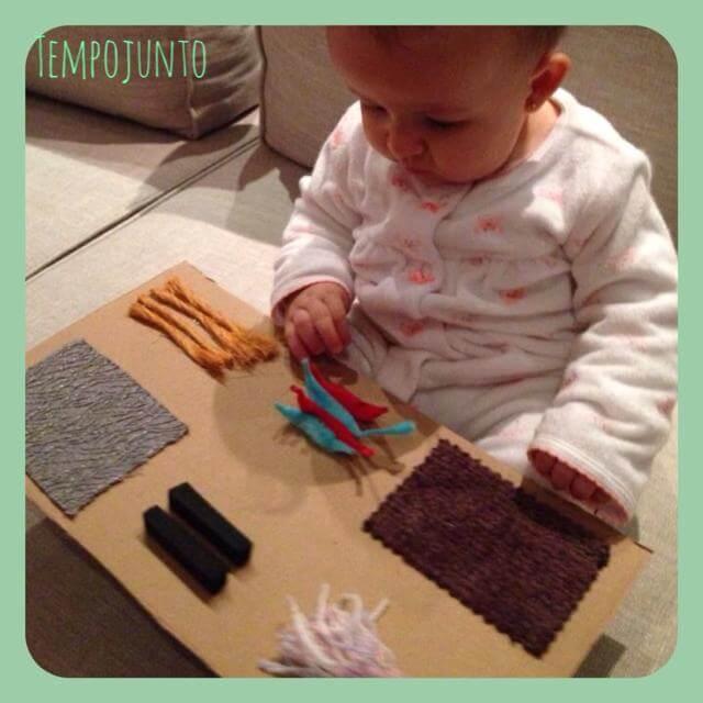 Gabi interessada nas texturas