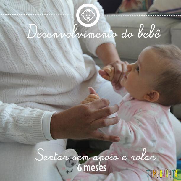 Desenvolvimento do bebê 3: sentar sem apoio 6 meses