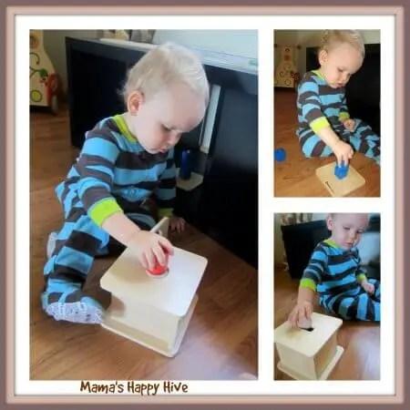 Brincadeiras do método Montessori para fazer com seu bebê - brincar de encaixe