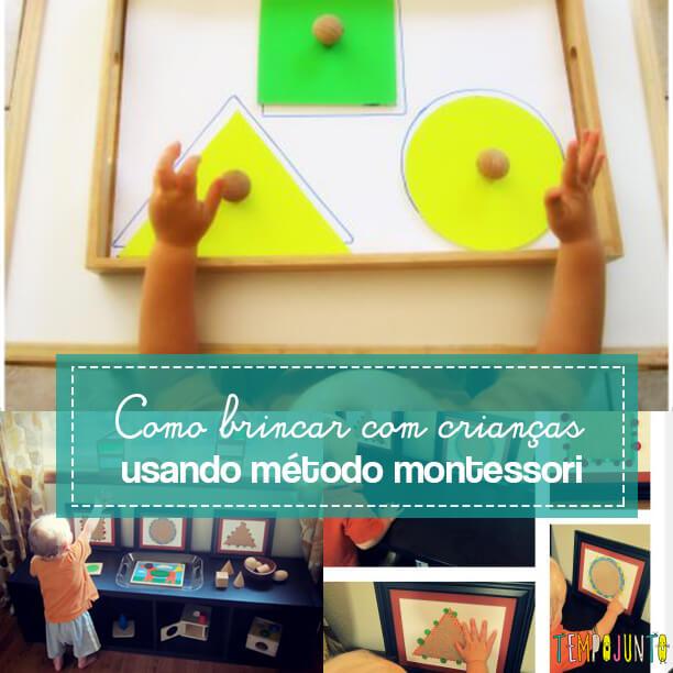 Brincadeiras do método Montessori para fazer com seu filho