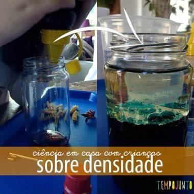 Experimento de ciências para crianças: densidade