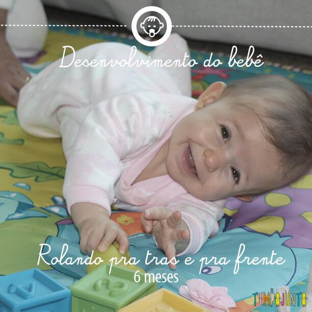 Desenvolvimento do bebê 4: rolar aos 6 meses