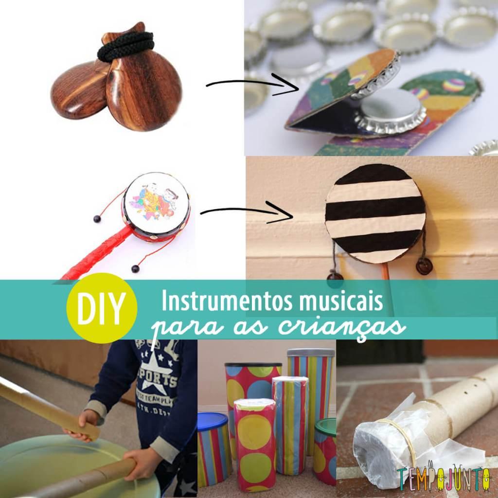 Como fazer instrumentos musicais com crianças