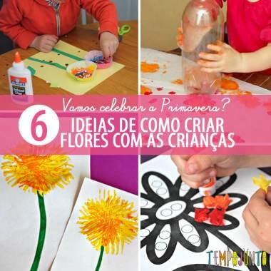 Ideias criativas de arte para criar flores na Primavera