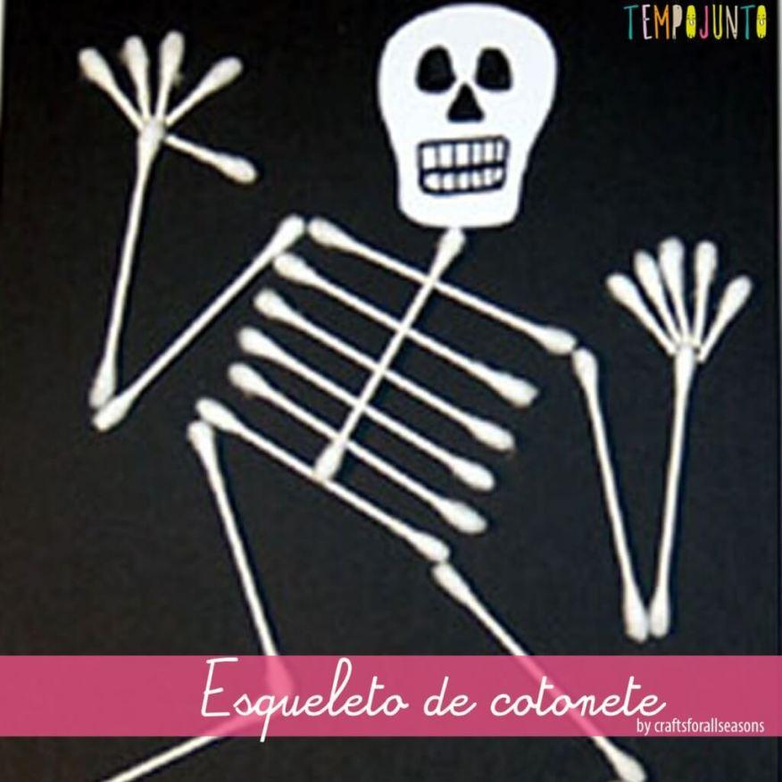esqueleto de cotonete