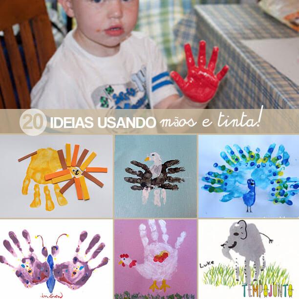 Famosos 20 ideias de desenhos usando mãos e tinta! FI72