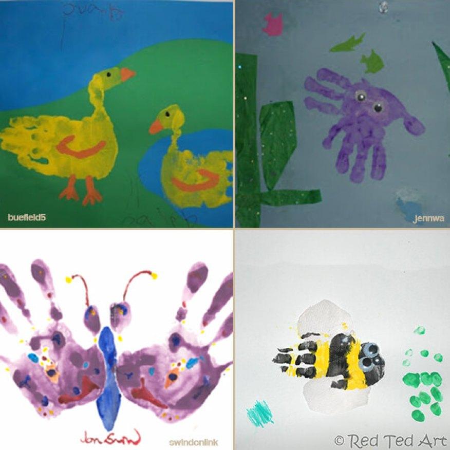 Favoritos 20 ideias de desenhos usando mãos e tinta! AU46