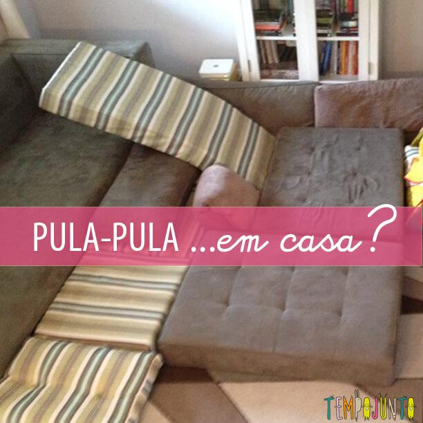 Que tal arrumar um espaço para pula-pula em casa?