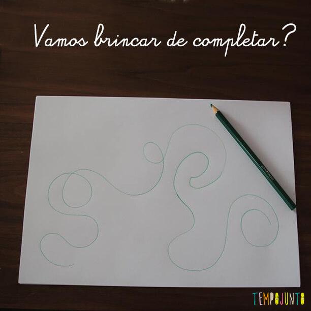 Complete o desenho
