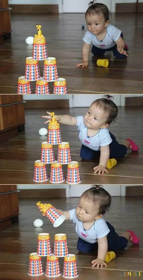 Gabi consegue pegar o brinquedo na torre de obstáculos