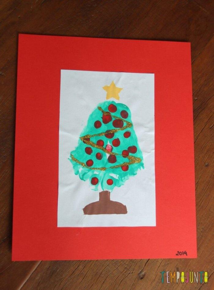 Cartão de natal feito em casa