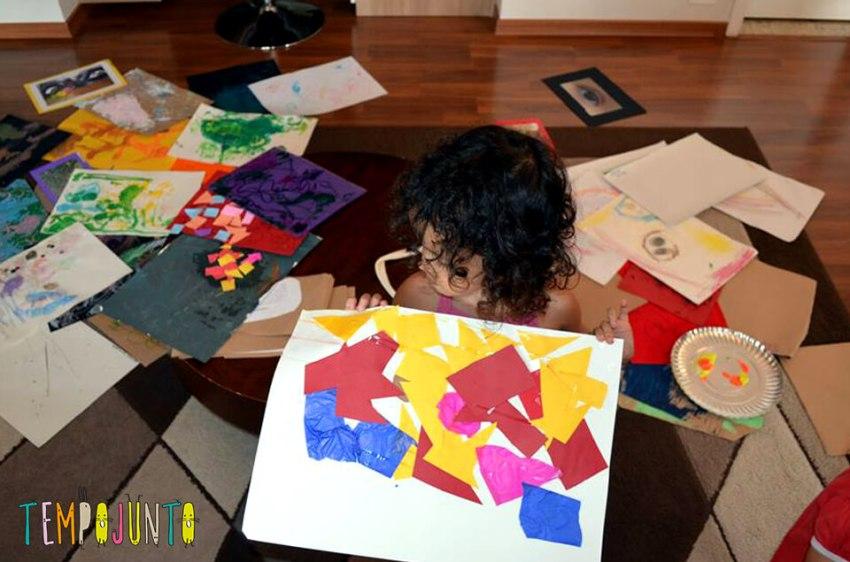 Exposição de arte - expor atividades das crianças de uma forma diferente
