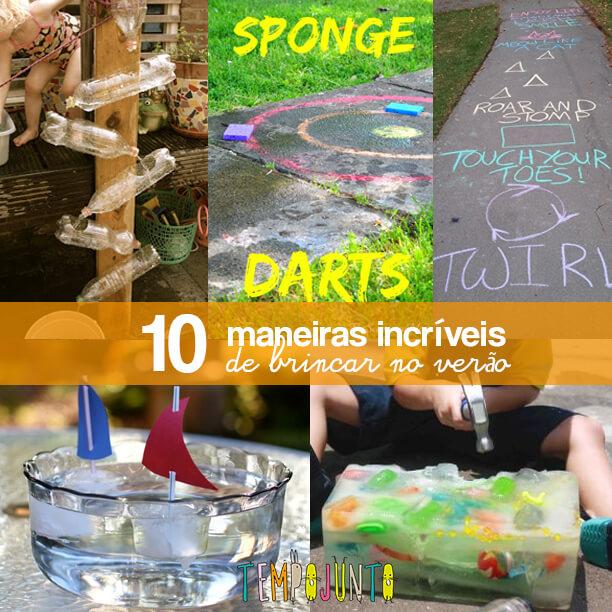 10 Brincadeiras e ideias criativas para um dia de verão