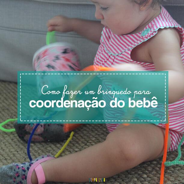 Brinquedo feito em casa para estimular a coordenação motora fina