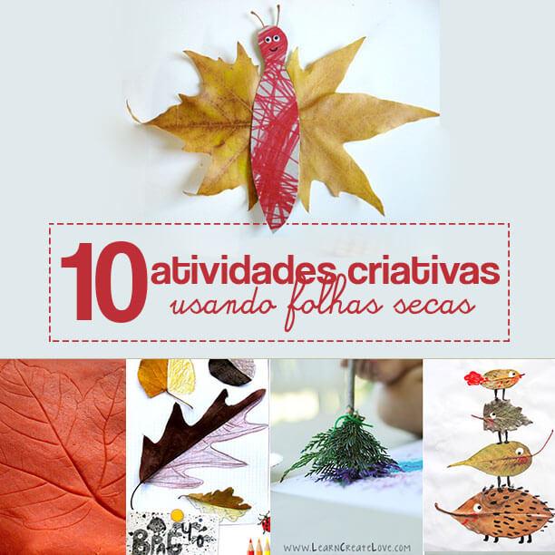 10 atividades com folhas secas para o Outono
