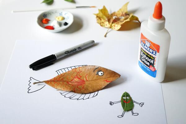 atividades com folhas secas - fim da arte com folhas