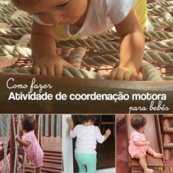 Atividades de coordenação motora para bebês