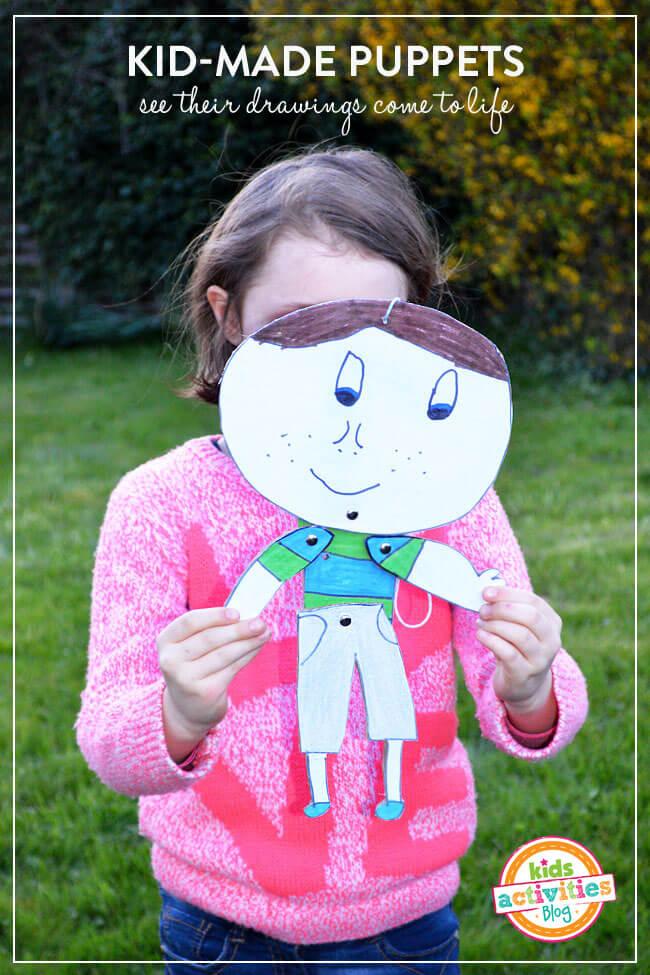 10 ideias criativas para fazer brinquedos com caixas de papelão - boneco articulado