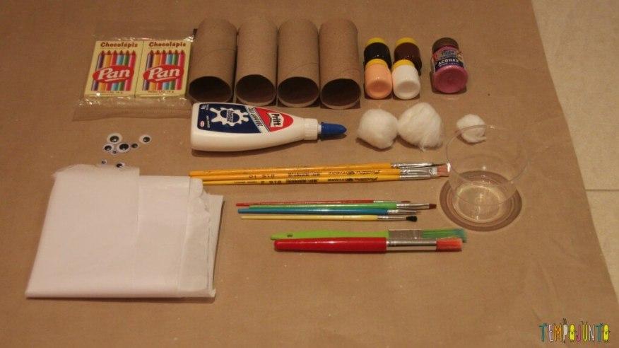 Presente simples para a páscoa - material