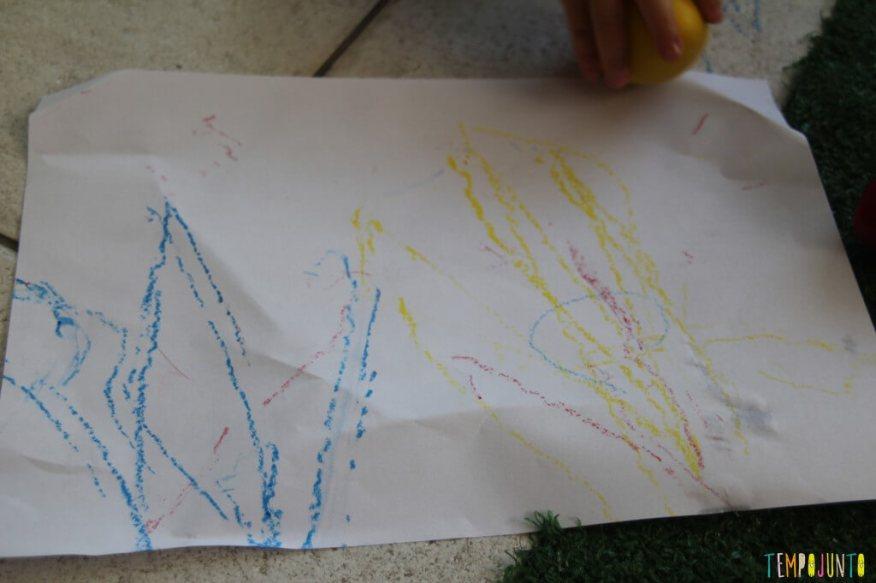 Quando o bebê pode começar a desenhar - obra de arte da gabi