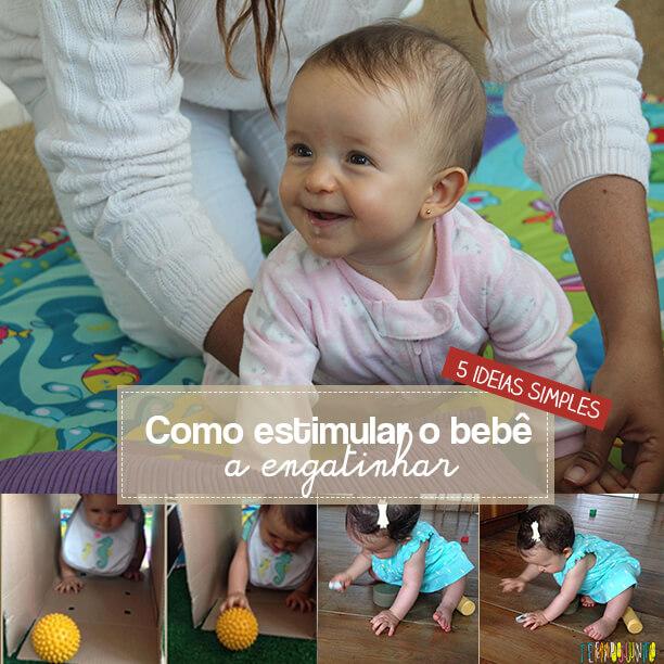 5 brincadeiras para estimular o bebê a engatinhar