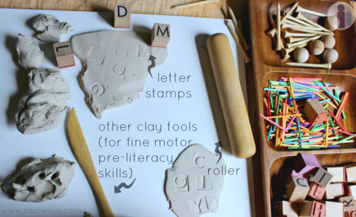 arte com argila - usando letras