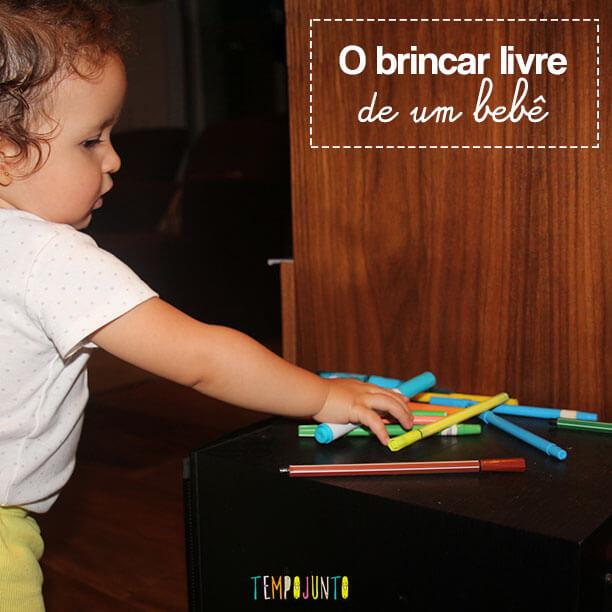 O brincar livre de um bebê