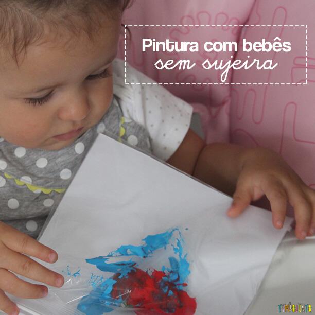 Pintura sem sujeira para bebês