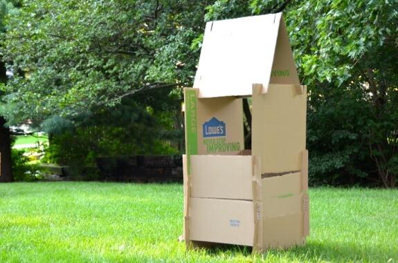 25 brincadeiras com caixa de papelão - construção da casa