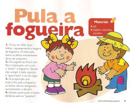 Brincadeiras de festa junina - pula a fogueira