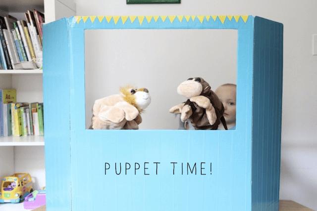 25 brincadeiras com caixa de papelão - teatro de fantoches