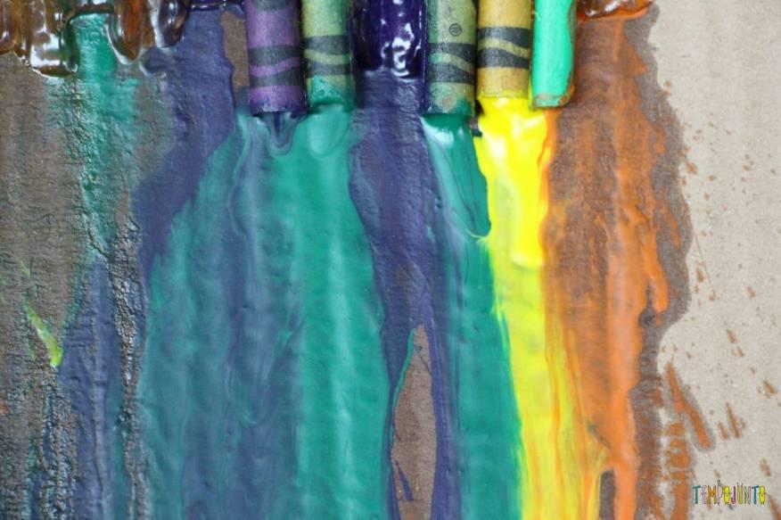 Arte com giz derretido - cores prontas