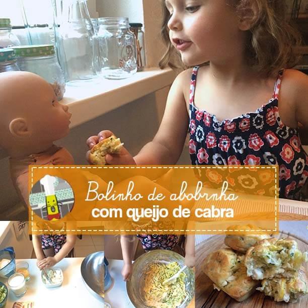 Na cozinha com crianças: Bolinho de Abobrinha com Queijo de Cabra