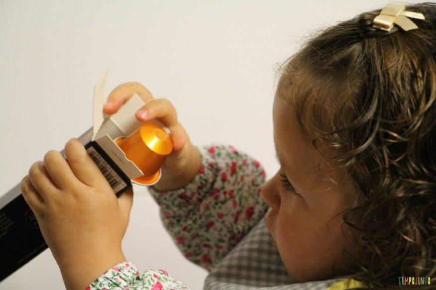 O que você pode transformar em brinquedo - gabi com nespresso