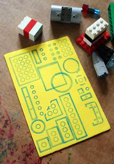10 ideias criativas de pintura com carimbo - usando lego