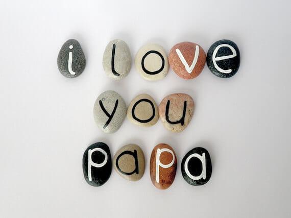 10 ideias de presentes caseiros para o Dia dos Pais - pedras pintadas