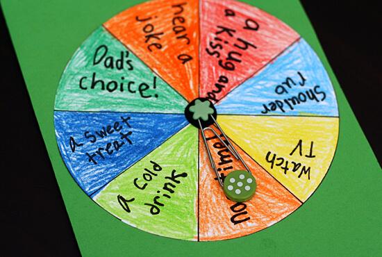 10 ideias de presentes caseiros para o Dia dos Pais - roleta do papai