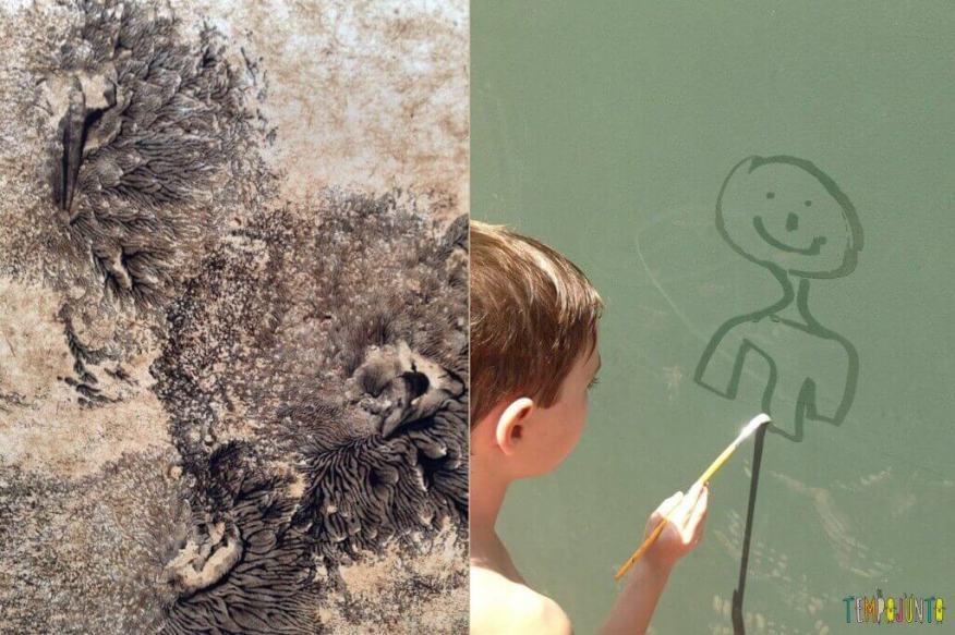 50 brincadeiras artísticas fantásticas que qualquer um consegue fazer - arte com bexiga e pintura na água