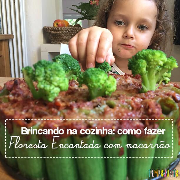Brincando na cozinha: como criar uma Floresta Encantada dos Nutrientes com as crianças